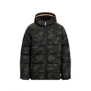 WE Fashion Salty Dog gewatteerde winterjas met contrastbies Salty Dog army groen