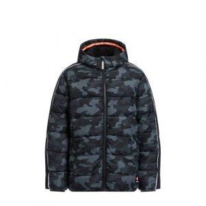 WE Fashion Salty Dog gewatteerde winterjas met contrastbies Salty Dog grijs