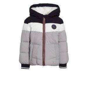 C&A Here & There baby gewatteerde winterjas grijs/zwart/wit
