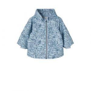 NAME IT BABY baby zomerjas Max met all over print blauw