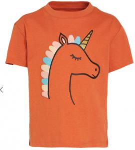 unicorn oranje t-shirt