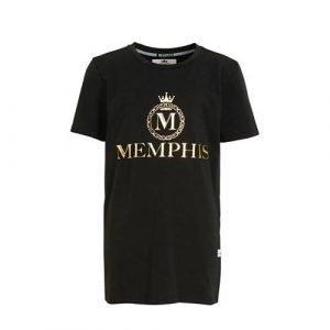Vingino Memphis Depay T-shirt Herossi met logo zwart