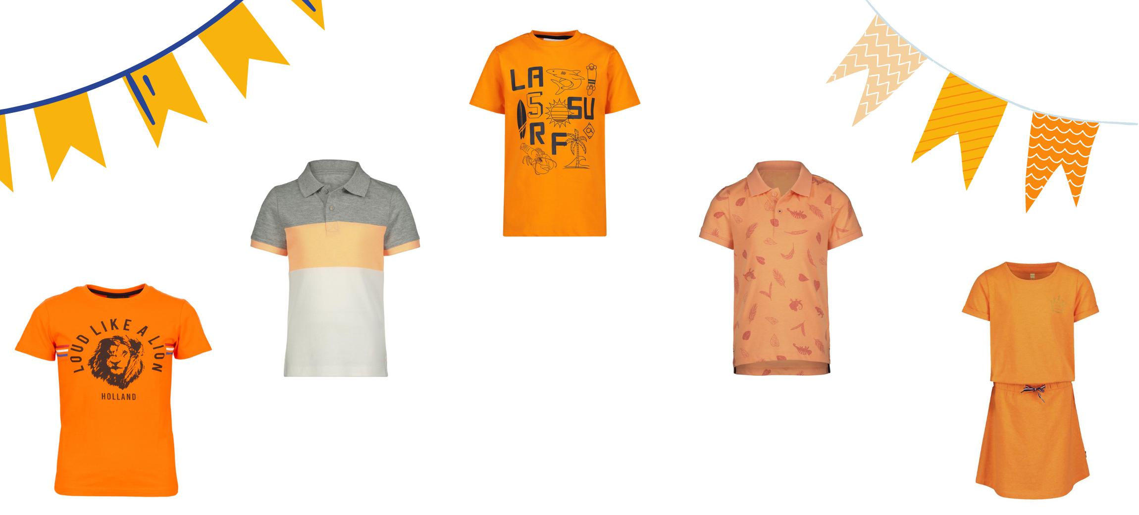 Oranje kinder t-shirts voor een spotprijsje