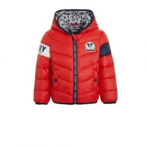 C&A Mickey Mouse gewatteerde zomerjas rood/donkerblauw/wit