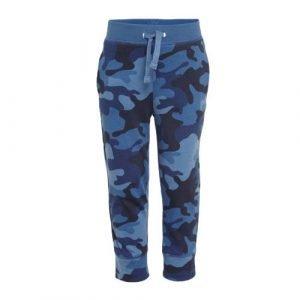 GAP regular fit joggingbroek van biologisch katoen blauw