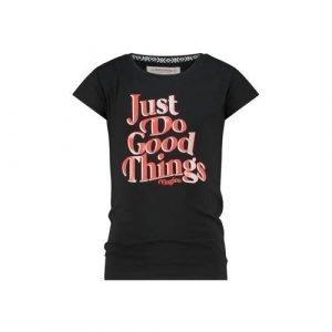 Vingino T-shirt Hirae met tekst zwart