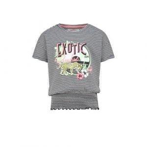Vingino gestreept T-shirt Hinja zwart/wit