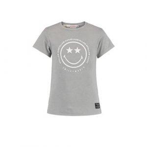 CoolCat Junior T-shirt Evelin coolcat x smiley world grijs