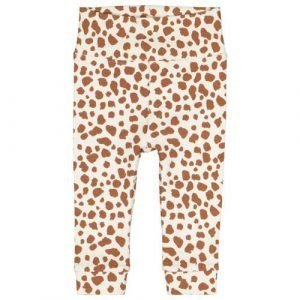 HEMA newborn baby slim fit broek met panterprint beige/camel