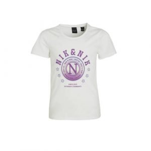 NIK&NIK T-shirt Galy met logo offwhite