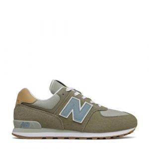 New Balance 574 sneakers groen/blauw/bruin