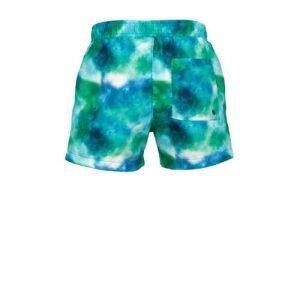 BEACHWAVE jongens zwemshort met tie-dye print groen