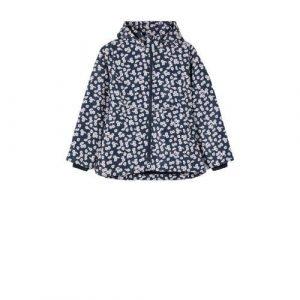 NAME IT KIDS gebloemde zomerjas Maxi donkerblauw/wit