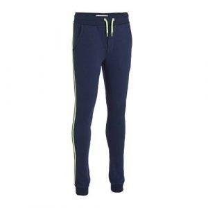 Vingino joggingbroek Samron met zijstreep donkerblauw