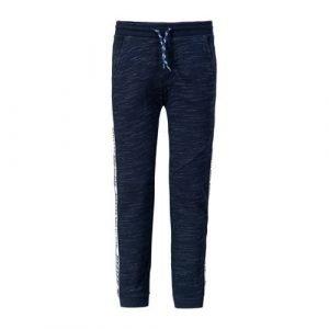 WE Fashion joggingbroek met contrastbies donkerblauw